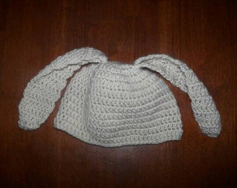 Bunny Ears Hat, Easter Beanie for Baby, Child, Teen, or Adult, Spring Photo Prop, Bunny Rabbit, Gifts for New Baby