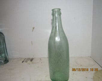 NY - 1910's  Obermeyer & Liebmann Brewing Co NY Aqua 8 3/4  inch beer ale bottle