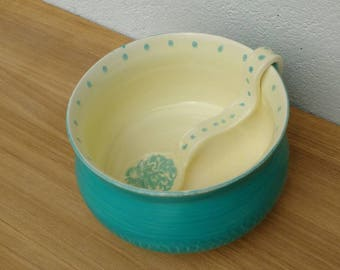 Pottery Ceramic Sugar Bowl with matching Spoon - Handmade in UK