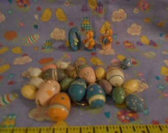 Wooden Miniature Easter Ornaments