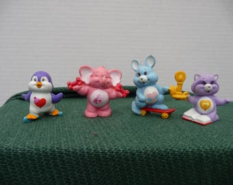 4 Care Bear cousins figurines from American Greetings