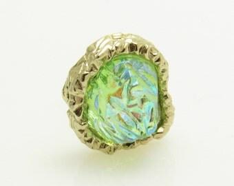 Lava Rock Vintage Tie Tack Swank Mens Vintage Accessories Jewelry H863