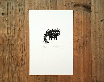 etching cat, black and white, engraving, art, illustration, engraving, linoleum