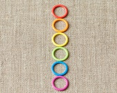 Cocoknits Rainbow Coloured Ring Stitchmarkers
