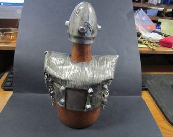 decanter made in Spain with metal armor