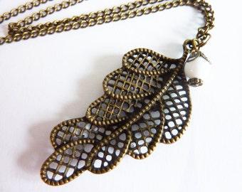turquoise gemstone necklace Statement feather boho jewelry
