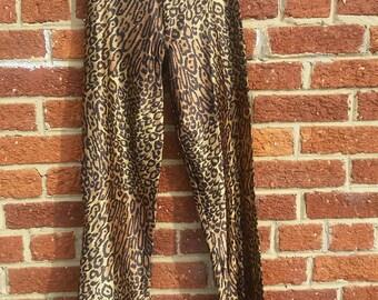 Vintage Disco / LeGambi 70s Disco Pants / Leopard Print