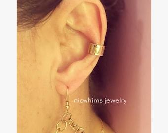 Ear cuff - armenian ear cuff - inital ear cuff - personalized ear cuff - ear hugger - non pierced earring - FREE SHIPPING