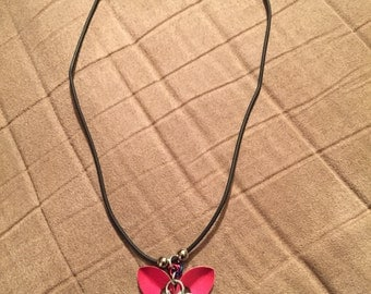 Fan Maille - Chain Maille Flower Necklace