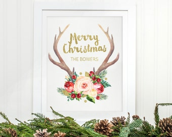 Family Christmas Printable - Personalized Christmas Art - Christmas Print - Christmas Decor - Xmas Printable - Christmas Wall Art - Xmas Art