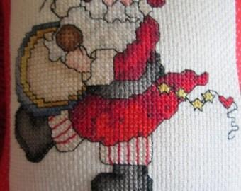Santa Claus Mini Holiday Pillow