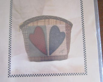 Sweetheart Quilted/Appliqued Pouch Pattern