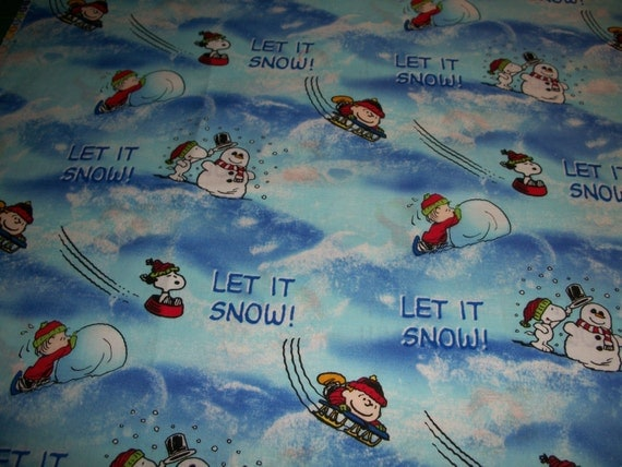 Let it Snow Toddler Pillow Case by SunshineBabyandQuilt