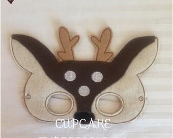Dress Up Play Mask - Deer Doe - Kids Costume, Pretend Play, Imaginative Play, Cosplay