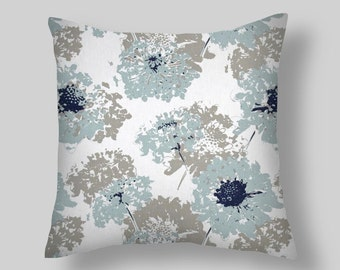 Blue Accent Pillows Etsy