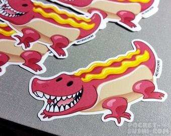 Hotdog Alligator / Crocodile Sticker