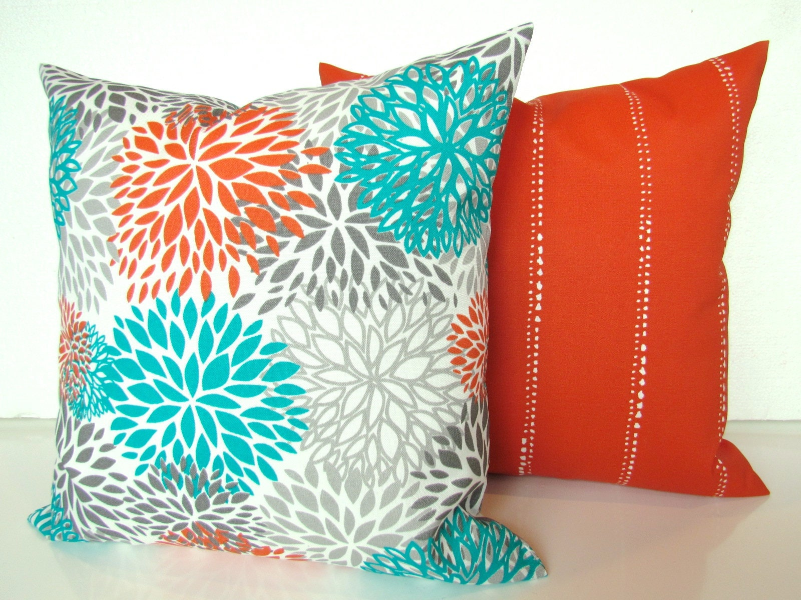 Sale Teal Pillows Turquoise Outdoor Pillow Covers Teal Orange