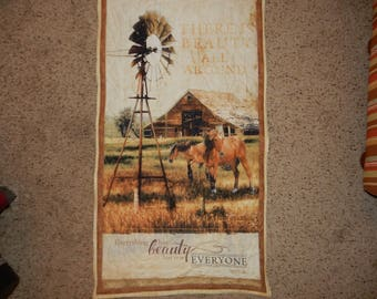 There is Beauty All Around  wallhanging featuring beautiful horses Quilted 24 by 40inches