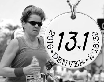 13.1 Necklace | Half Marathon Necklace | Marathon Gifts | Runner Gift | Half Marathon Gift | Custom Personalized Necklace | Korena Loves