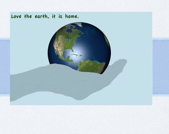 Love the Earth Card Downloadable Printable