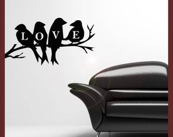 Love birds vinyl wall decal sticker