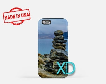 Stone iPhone Case, Beach iPhone Case, Stone Stack iPhone 8 Case, Rocks, Sand, iPhone 6s Case, iPhone 7 Case, Phone Case, Safe Case, SE Case