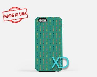Arrow Phone Case, Arrow iPhone Case, Bohemian iPhone 7 Case, Teal, Bohemian iPhone 8 Case, Arrow Tough Case, Clear Case, Tribal, Archery