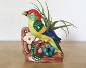 Colorful Ceramic Bird Planter