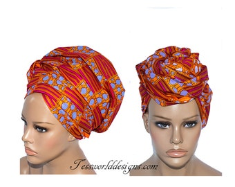Kente Scarf / Head wrap scarf /African Hair Wraps/ African Head scarf/ Kente Fabric/ African head wraps/  African Head Ties/  HT157