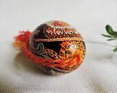 Traditional pysanka - Ukrainian easter egg - Angel with Bird
