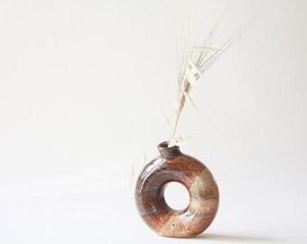Stoneware Bud Vase Torus Vase Donut Vase