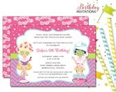 Spa Pampering Invitation | Kids Birthday | Printable Digital File | KBI205DIY