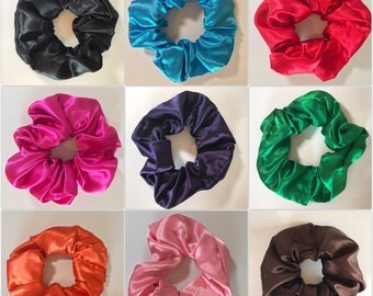 Satin Scrunchies in Solid Colors