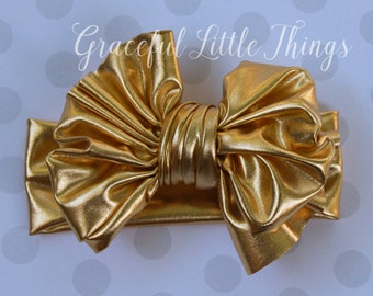 Metallic Gold headwrap