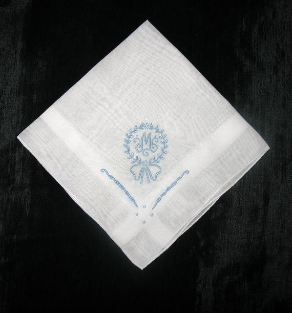 vintage monogrammed handkerchiefs monogram m by vintagebyteresa