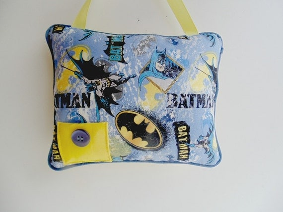 Custom Squishy Pillows : Personalized Batman Tooth Fairy Pillow Hanging Pillow Super