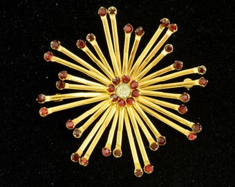 Signed Vargas Gold Filled Vintage Brooch