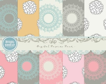 ON SALE Pro Photographers Digital Scrapbook Paper Pack - 12x12 inches JPG Files vol.18 - Instant Download