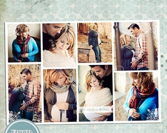 ON SALE Story Board ( 8x12 in ) Photoshop template, psd files - INSTANT Download