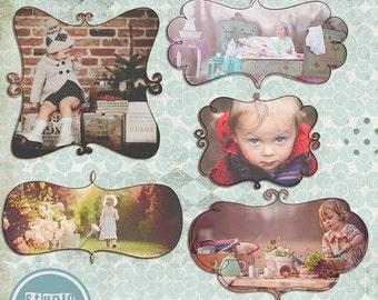 ON SALE INSTANT Download Digital Frames Doodle ( Mask ) , psd template photoshop