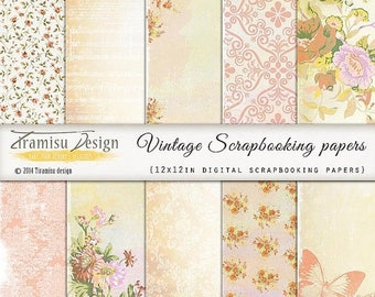 ON SALE Scrapbook Papers and Digital Paper Pack 31