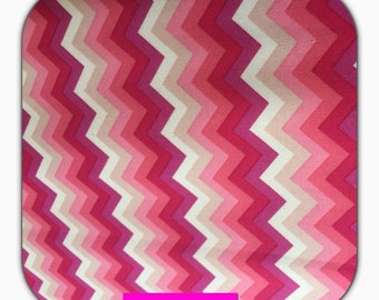 Cotton fabric with Chevron pattern of Stenzo, 50 cm, pink, pink