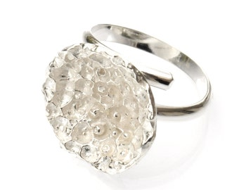 Beautiful Sterling silver Star Dust adjustable ring