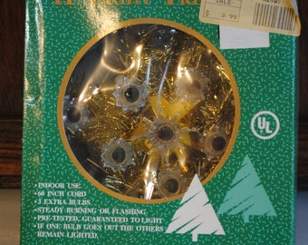 Vintage Lighted Christmas Tree Topper
