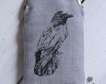 Handmade Crow Glasses Case