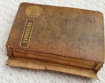 Evangeline: A Tale of Acadia and other poems by Henry Wadsworth Longfellow, circa late 1800s, Antique Book
