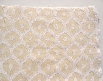 Ogee Pattern Handloom woven cotton Jacquard Pillow Curtains Fabric by Yard