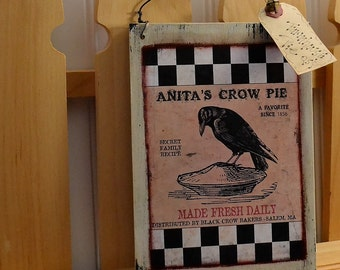 Primitive crow - Wooden signs with saying - Handmade wooden signs - Primitive country décor - Primitive country signs - Primitive home décor
