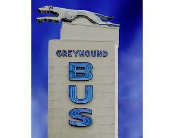 Bus Station, On The Road Again, Americana Photography, Classic American Art, Fine Art Photography, Large Wall Art