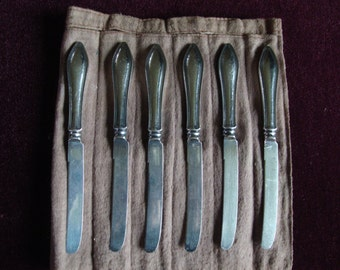 Six Sterling Silver Knives from the Fifties